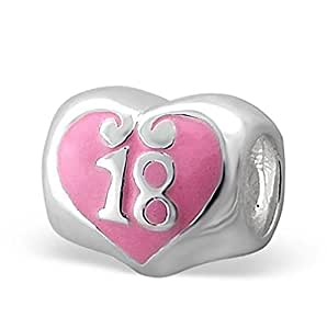 Amazon.com: .925 Sterling Silver Number 18 Eighteen 18th ...