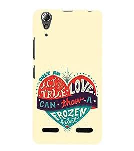 EPICCASE true love Mobile Back Case Cover For Lenovo A6000 (Designer Case)