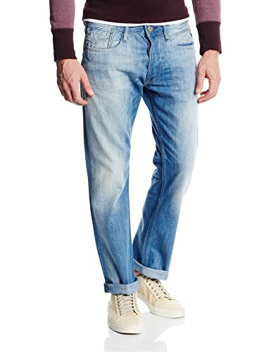 Replay New Bill-Pantaloni Uomo,    Blu (Blue Denim 10) W33/L34 (33)
