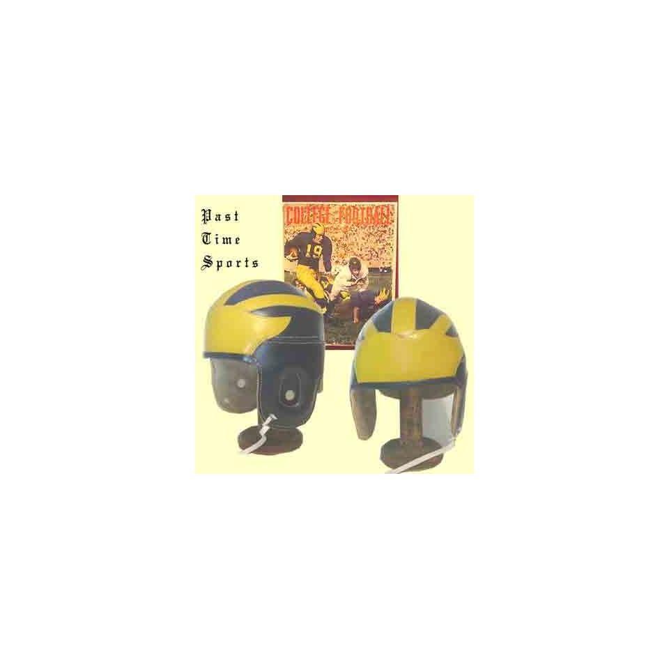 Four Strap Heisman Trophy Leather Football Helmet (1930 1940s)