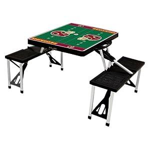 NFL Picnic Table Sport Color: Black, NFL Team: Washington Redskins from Picnic Time