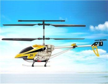 SongYang 8088-34 3 Channels RC Helicopter with Gyroscope (Yellow)
