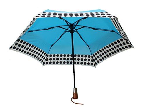 shedrain-ultimate-umbrella-44-arc-auto-open-close-wood-handle-blue-w-polka-dots