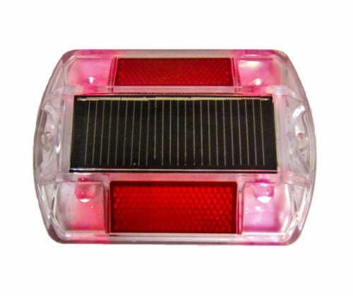 Red Polycarbonate Solar Road Stud Path Deck Dock Led Light