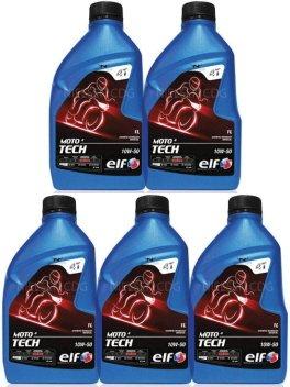 Elf Moto 4 Tech 10w50 Motorcycle Engine Oil TOT-183264-5 - 5x1L = 5L