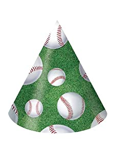 Baseball Party Hats Child Size - 8/Pkg. from Creative Converting