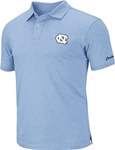 North Carolina Tar Heels Light Blue Choice Slub Knit Polo Shirt by Colosseum