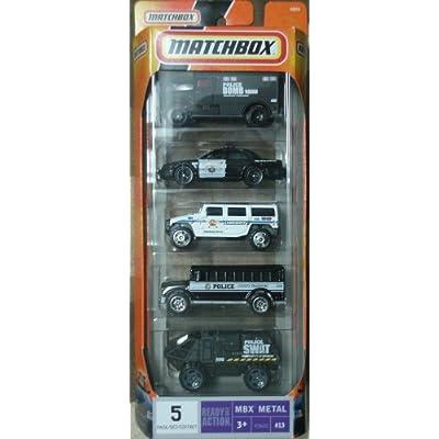 Police SWAT Law Enforcement Fleet 5 Pack 1:64 Scale Die Cast Cars