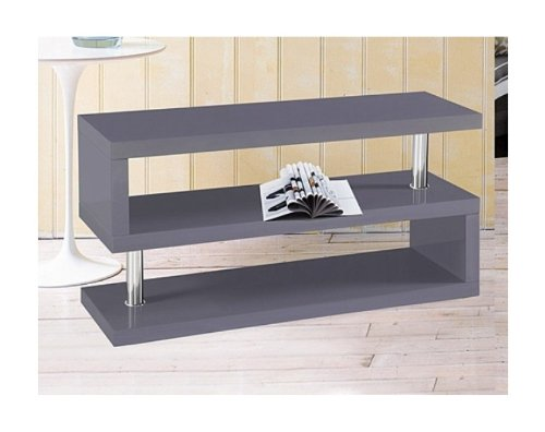 FREE DELIVERY;;;WAS £199.00 NOW ONLY £99.00#DESIGNER ELEGANCE SQUARE GREY TV STAND/STORAGE UNIT