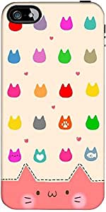 Snoogg Cute Kitty Icons Designer Protective Back Case Cover Forapple Iphone 5...