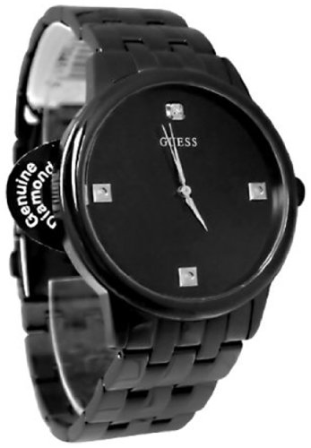 GUESS Men's Diamond Dial Round Watch Set + 1 interch