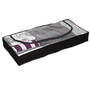Bolsa caja PEVA para debajo de la cama - Negro - 103 x 45 x 16 cm   revisión y más información