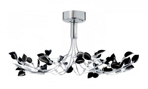 Wisteria Chandelier with Black Glass