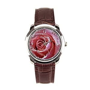 sanYout Men Wrist Watches Pink Leather Band Watches Drops Mens Watches With Leather Band Water