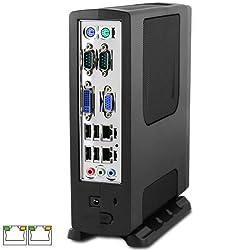 Intel Atom D2500 Dual LAN, Dual COM Fanless Mini-ITX PC, D2500CCE, 2GB, T3410