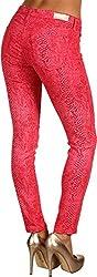 AG Adriano Goldschmied Women's Snakeprint Ankle Legging