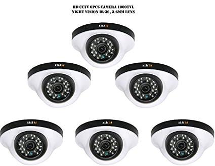 Puffin S28330-6 1000TVL Night Vision Dome Camera (6 PCs)