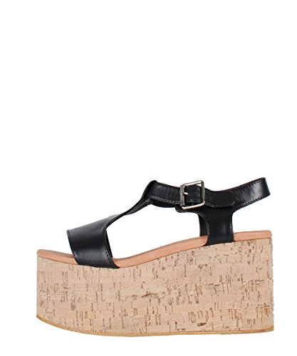 Jeffrey Campbell Weekend Sandals Black - Sandali Neri Zeppa