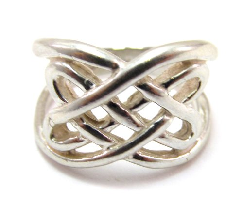 Sterling Silver Traditional Scandinavian Celtic Knot Ring (4.5)