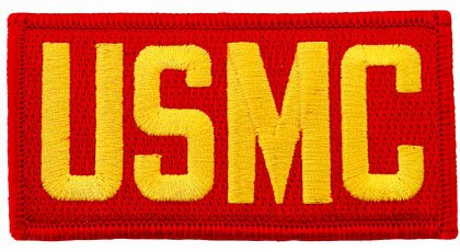 USMC Embroidered Patch US Marine Corps Colors Military Letters Iron-On Emblem