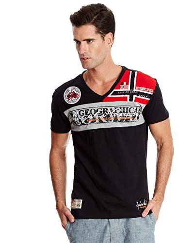 Geographical Norway T-Shirt Manica Corta Jyer [Bianco]
