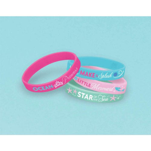 The Little Mermaid Rubber Bracelets 4ct