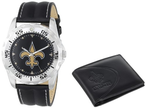Game Time Unisex NFL-WWS-NO Wallet and New Orleans Saints NHL Watch Set at Amazon.com
