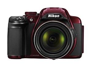 Nikon Coolpix P520 Fotocamera Digitale 18 Megapixel, Zoom Ottico 42x, Display LCD da 8cm (3.2 Pollici), Stabilizzatore d'Immagine, Colore Rosso