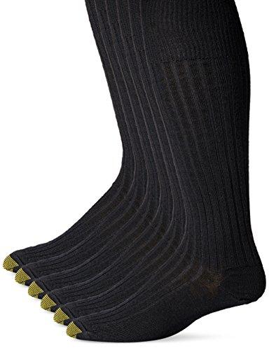 Gold Toe Men's Windsor Wool-Blend Over-the-Calf Dress Sock (Three-Pack)