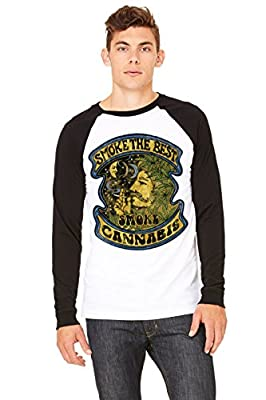 Smoke The Best Cannabis Men's Raglan Long Sleeve Jersey T-Shirt