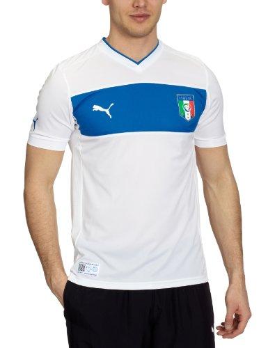 Puma, Maglia da calcio Italia Away Replica, Bianco (white), L