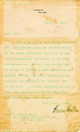 GENERAL HORACE PORTER - TYPED LETTER SIGNED 04/02/1897