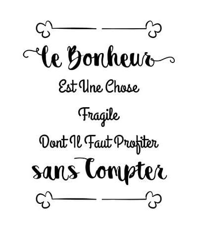 ZZ-Ambiance-sticker Vinilo Decorativo French Quote Le Bonheur Dont Il Faut Profiter