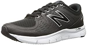 New Balance Men's M775V2 Running Shoe, Black/Silver, 10.5 4E US