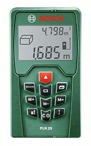 Bosch PLR 25 Laser-Entfernungsmesser + Schutztasche (0,05-25 m Messbereich, +/- 2 mm Messgenauigkeit)