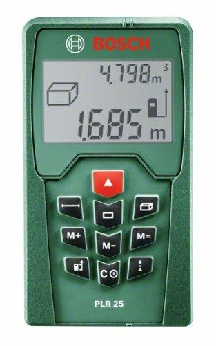 Bosch-Laser-Entfernungsmesser-PLR-25-Schutztasche-005-25-m-Messbereich-2-mm-Messgenauigkeit