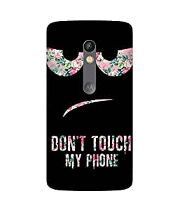 Don't Touch My Phone Printed Back Cover Case For Motorola Moto X Play