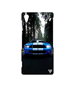 Vogueshell Sports Car Printed Symmetry PRO Series Hard Back Case for Sony Xperia Z2
