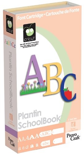 Plantin Schoolbook Cricut Cartridge