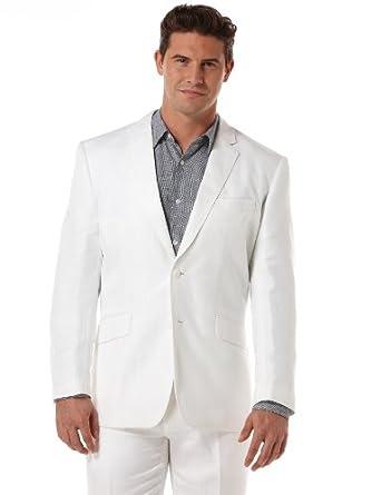 Cubavera Men's Herringbone Suit Jacket, Bright White, Large (42)