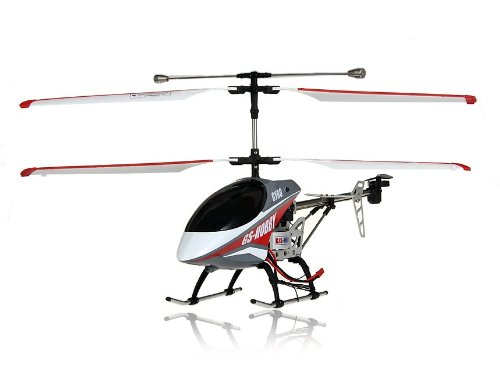 G/S Hobby GS370 3-Channel Aluminum RC Helicopter with Flashlight, Gyroscope (Red)
