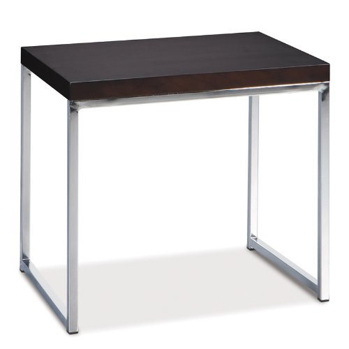 Cheap Avenue Six Wall Street End Table in Espresso (WST09)