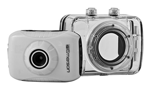 Emerson EVC355WH HD Sports Action Video Camera Kit With Waterproof Case (Emerson Action Cam Digital Video compare prices)