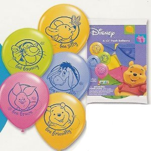 Winnie the Pooh Party Balloons (6 Count)