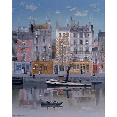Amazon.com: Le Canal (Litho) by Michel Delacroix. Size: 23.25 inches