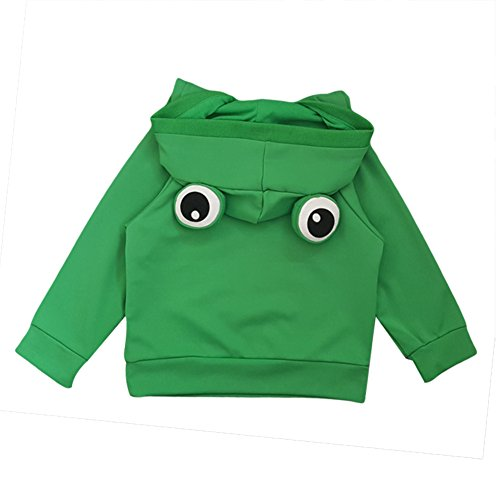 Baby Toddler Girl Boy Hoodie Pullover Sweatshirt Lovely Frog Cotton Sweater 110