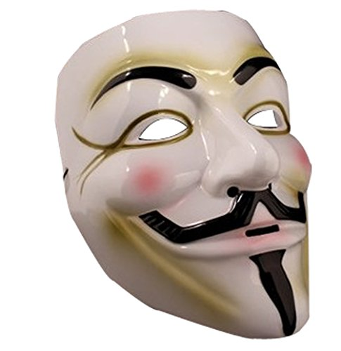 Hot Popular Environmental Models Hacker V for Vendetta Mask-white