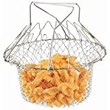 Styleys Chef Basket 12 In 1 Kitchen Tool For Colander Straining Rinsing Draining Storing Cooking Deep Fry Boiling...