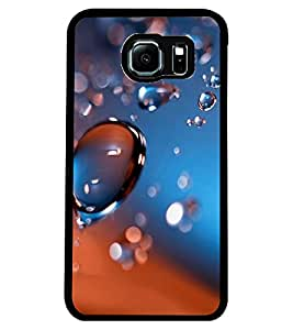 ColourCraft Water Drops Design Back Case Cover for SAMSUNG GALAXY S6 EDGE