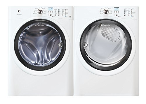 "Electrolux White Front Load Laundry Pair with EIFLW50LIW 27"" Washer and EIGD50LIW 27"" Gas Dryer in White"